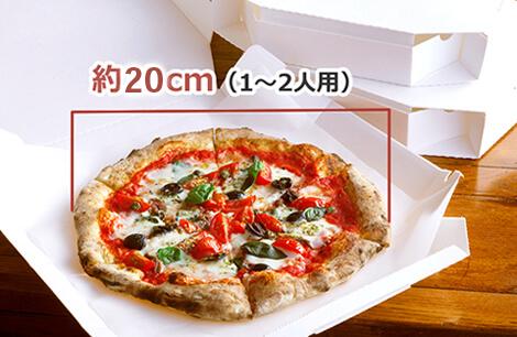 ピッツァは直径25cm 程度(1~2人前)