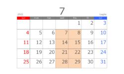 202107カレンダー