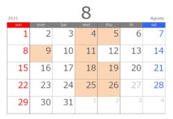 202108カレンダー